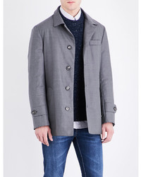 Brunello Cucinelli Button Up Wool Raincoat