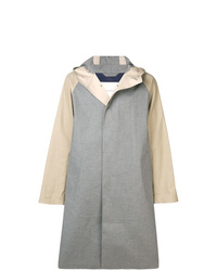 MACKINTOSH Grey Fawn Bonded Cotton Oversized Hooded Coat Gr 122cb