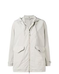 Aspesi Grey Hooded Raincoat