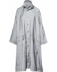 Balenciaga Opera Oversized Printed Reflective Shell Raincoat Gray