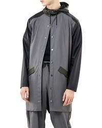 Rains Waterproof Colorblock Long Jacket