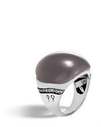 Bamboo moonstone gray diamond ring size 7 medium 3698261
