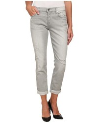 7 For All Mankind Josefina With Destroy In Distressed Grey Destroy