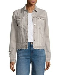 J Brand Slim Fit Distressed Denim Jacket