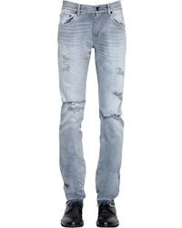 165cm destroyed cotton denim jeans medium 3748394
