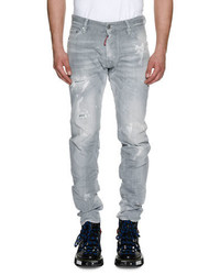 Cool guy distressed straight leg jeans medium 4380718