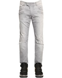 Pierre balmain 17cm biker destroyed raw denim jeans medium 534053