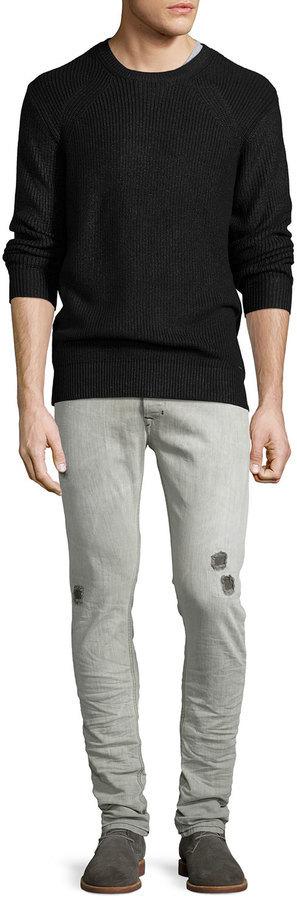 1118193bf75 Diesel Tepphar 676m Distressed Jeans Light Gray, $298 | Neiman Marcus |  Lookastic.com