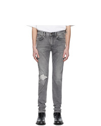 Acne Studios Grey Patched Up Jeans
