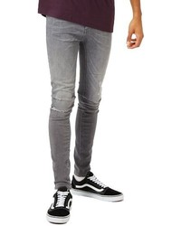 Ripped spray on skinny fit jeans medium 1150116