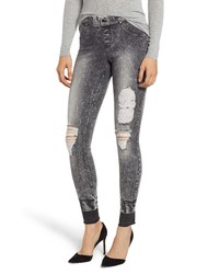 ZEZA B BY HUE Shredded Denim Leggings