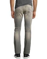 71198345 Diesel Thavar 084dv Distressed Skinny Jeans Gray, $248 | Neiman ...