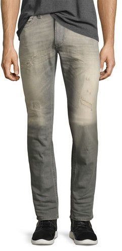 cb13e01c ... Grey Ripped Skinny Jeans Diesel Thavar 084dv Distressed Skinny Jeans  Gray ...