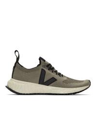 Rick Owens Grey Veja Edition V Knit Sneakers