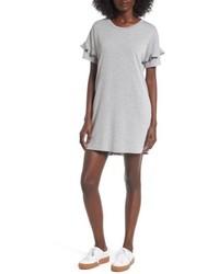 Lush Ruffle Sleeve T Shirt Dress