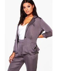 Saskia satin boxy pyjama blazer medium 3638575