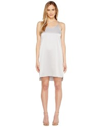 Halston Heritage Sleeveless Double Strap Satin Slip Dress Dress