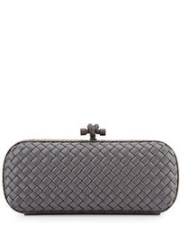 Bottega Veneta Satin Elongated Knot Clutch Bag