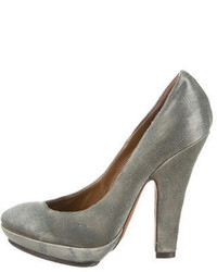 Nina Ricci Distressed Satin Pumps
