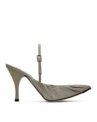 Acne Studios Grey Beatrice Slingback Heels