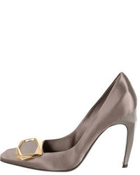 Roger Vivier Satin Buckle Embellished Pumps