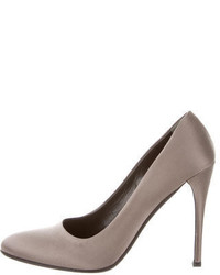Prada Satin Semi Pointed Toe Pumps
