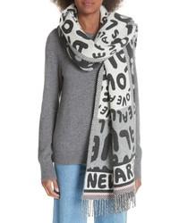 Stella McCartney All Is Love Wool Cashmere Scarf