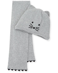 Karl Lagerfeld Baby Hat And Scarf Set Gray