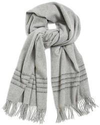 Rag & Bone Brushed Stripe Merino Wool Scarf