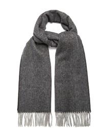 Acne Studios Canada Herringbone Wool Scarf