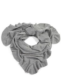 Cashmere ruffle triangle wrap medium 916005