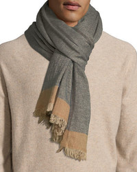 Brunello Cucinelli Cashmeresilk Scarf With Tipping