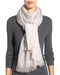 Nordstrom Caslon Heathered Cashmere Gauze Scarf
