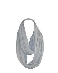 David & Young Distressed Knit Scarf Grey One Size