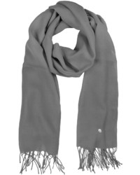 Gray wool and cashmere stole medium 172354
