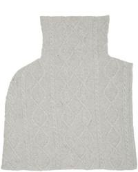 Stella McCartney Grey Cashmere Shredded Scarf
