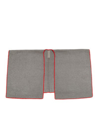 Rick Owens Grey Double Cape Scarf