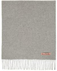 Acne Studios Grey Wool Narrow Scarf
