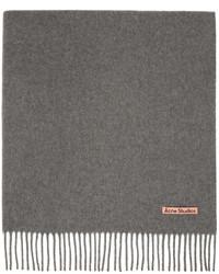 Acne Studios Grey Wool Oversized Scarf