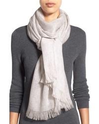 Heathered cashmere gauze scarf medium 716647