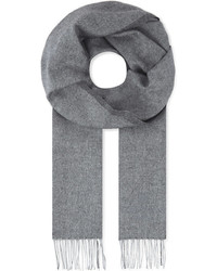 Corneliani Herringbone Silk And Cashmere Blend Scarf