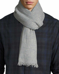 Lightweight cashmere scarf with side tipping medium 6983452