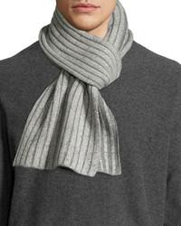 Portolano Melange Two Tone Knit Scarf Ivorylight Gray