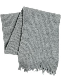 MSGM Distressed Wool Blend Knit Scarf