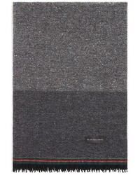 Paul Smith Ps Tonal Color Block Wool Scarf