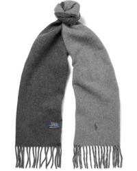 Polo Ralph Lauren Reversible Fringed Virgin Wool Blend Scarf