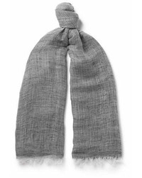 Oliver Spencer Sinti Mlange Linen And Cotton Blend Scarf