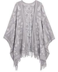Alexander McQueen Wool Jacquard Wrap Gray