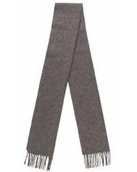 Saint Laurent Yves Wool Fringe Scarf