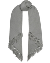 Isabel Marant Zila Fringed Cashmere And Wool Blend Scarf